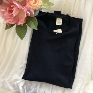 """""""JUST IN"""" NWT J. Crew pullover sweater in navy"""